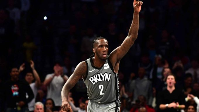 NEW YORK, NEW YORK - NOVEMBER 01: Taurean Prince #2 of the Brooklyn Nets reacts during the second half of their game against the Houston Rockets at Barclays Center on November 01, 2019 in the Brooklyn borough New York City. NOTE TO USER: User expressly acknowledges and agrees that, by downloading and or using this Photograph, user is consenting to the terms and conditions of the Getty Images License Agreement.
