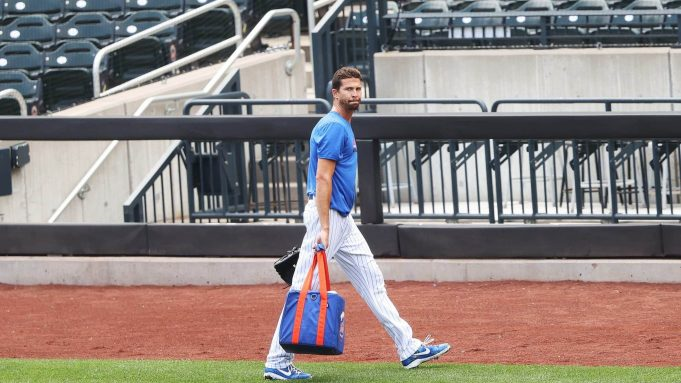 NEW YORK, NEW YORK - JULY 03: Jacob deGrom #48 of the New York Mets walks off the field after his workout during Major League Baseball Summer Training restart at Citi Field on July 03, 2020 in New York City.