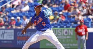 PORT ST LUCIE, FL - MARCH 4: Marcus Stroman #0 of the New York Mets throws the ball against the St Louis Cardinals during a spring training game at Clover Park on March 4, 2020 in Port St. Lucie, Florida.