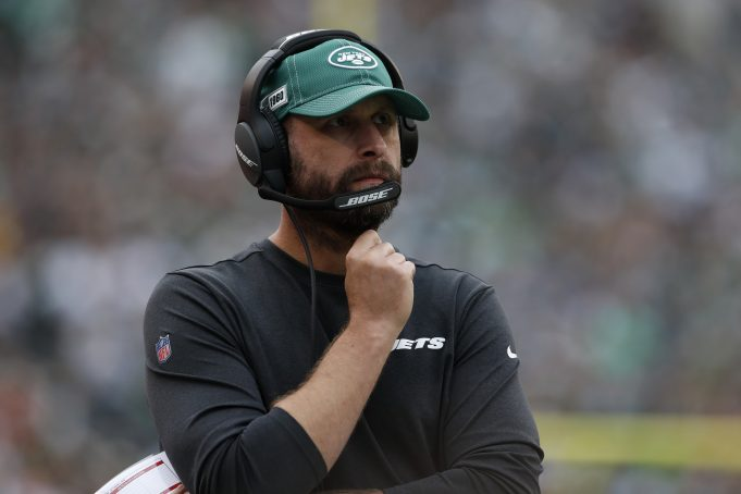 PHILADELPHIA, PENNSYLVANIA - OCTOBER 06: Head Coach Adam Gase of the New York Jets looks on from the sidelines during the first half against the Philadelphia Eagles at Lincoln Financial Field on October 06, 2019 in Philadelphia, Pennsylvania.