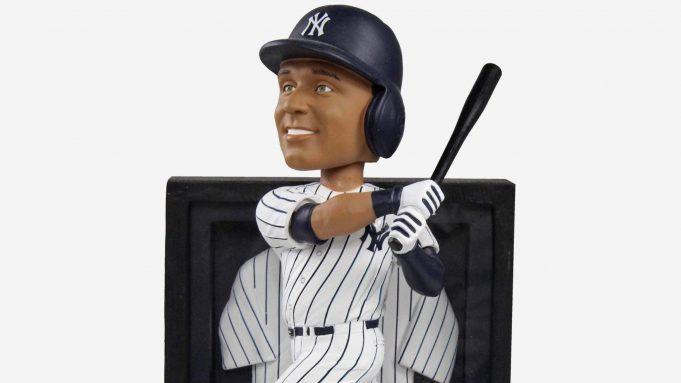 Derek Jeter New York Yankees Framed Showcase Bobblehead by FOCO