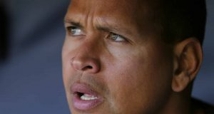 NEW YORK, NY - APRIL 20: Alex Rodriguez #13 of the New York Yankees looks on before a game against the Oakland Athletics at Yankee Stadium on April 20, 2016 in the Bronx borough of New York City. New York Mets