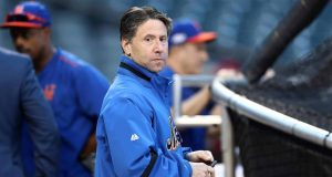 NEW YORK, NY - OCTOBER 05: Jeff Wilpon, COO of the New York Mets, looks on prior to their National League Wild Card game against the San Francisco Giants at Citi Field on October 5, 2016 in New York City.