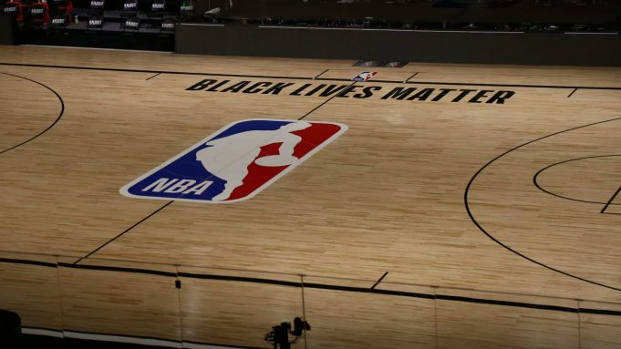 LAKE BUENA VISTA, FLORIDA - AUGUST 26: A general view of the court after the postponed game five of the first round of the NBA Playoffs between the Oklahoma City Thunder and the Houston Rockets at The Field House at ESPN Wide World Of Sports Complex on August 26, 2020 in Lake Buena Vista, Florida. The NBA announced the postponement of today's games in response to the Milwaukee Bucks boycotting their game in protest against the shooting of Jacob Blake by Kenosha, Wisconsin police. NOTE TO USER: User expressly acknowledges and agrees that, by downloading and or using this photograph, User is consenting to the terms and conditions of the Getty Images License Agreement.