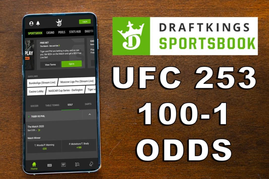 draftkings sportsbook ufc 253 odds