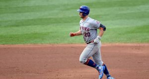 BALTIMORE, MD - SEPTEMBER 02: Pete Alonso #20 of the New York Mets rounds the bases after hitting a home run in the sixth inning against the Baltimore Orioles at Oriole Park at Camden Yards on September 2, 2020 in Baltimore, Maryland.