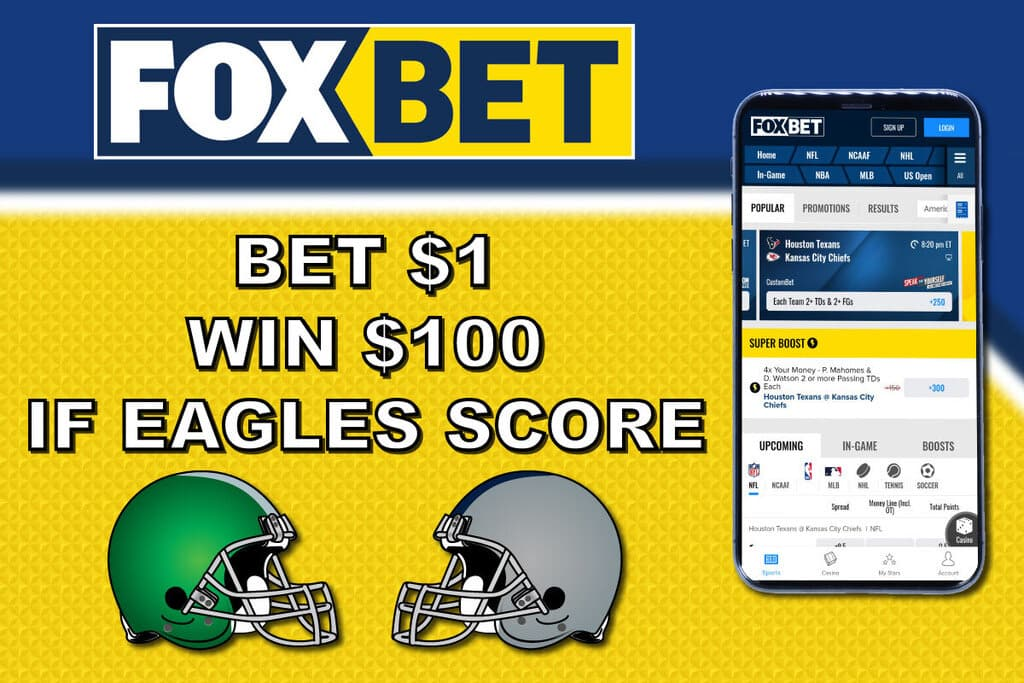 what would 100 dollars bet on the eagles pay