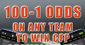 draftkings sportsbook promo 100-1 odds any college football team win title