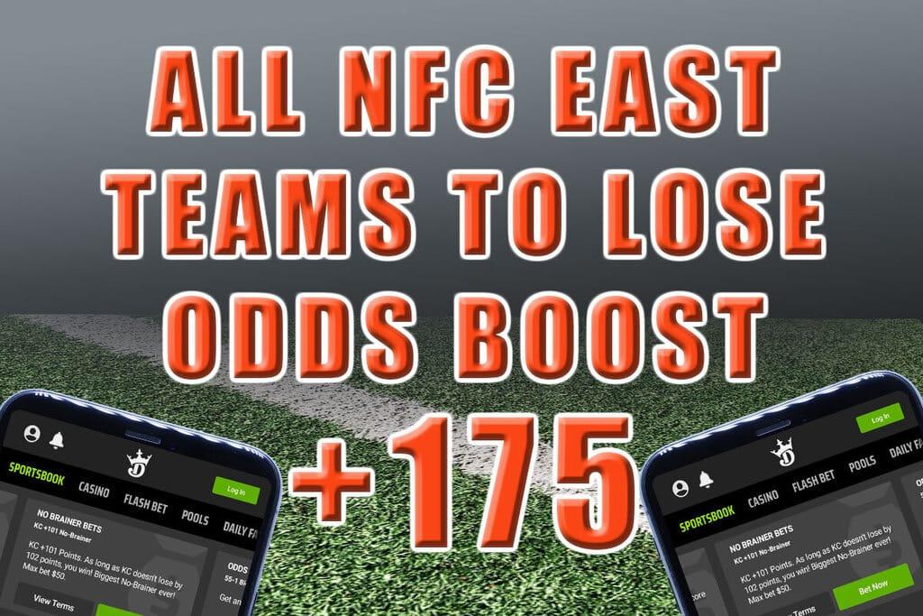 +175 all nfc east teams to lose jim cramer odds boost draftkings sportsbook
