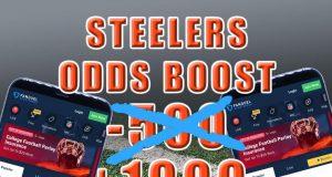 steelers fanduel sportsbook odds boost