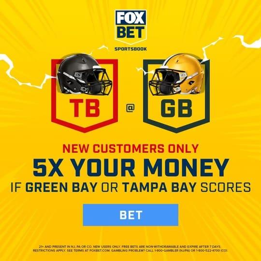 fox bet promo 5x money buccaneers packers