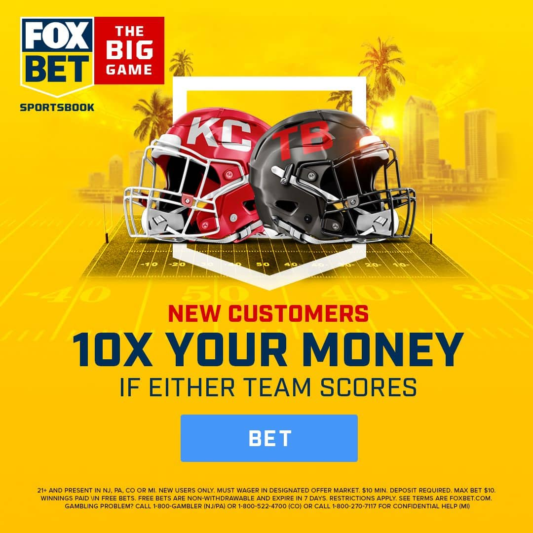 Bet $10, Win $100 if either the Chiefs or Buccaneers Score at FOX Bet