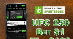 draftkings sportsbook ufc 259 promo