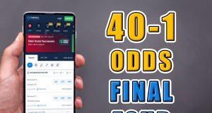 fanduel sportsbook 40-1 odds final four