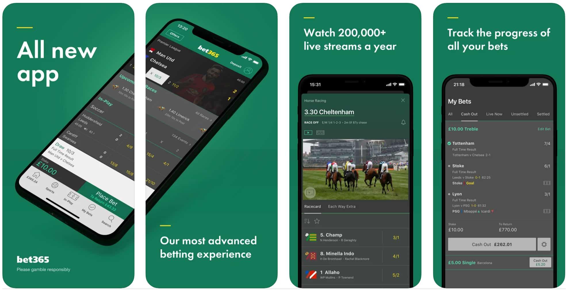 Bet365 Mobile App Screenshot