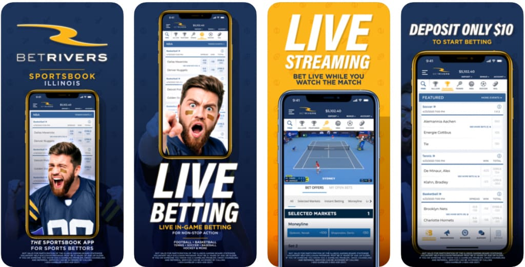 ESNY, BetRivers Sportsbook Mobile App
