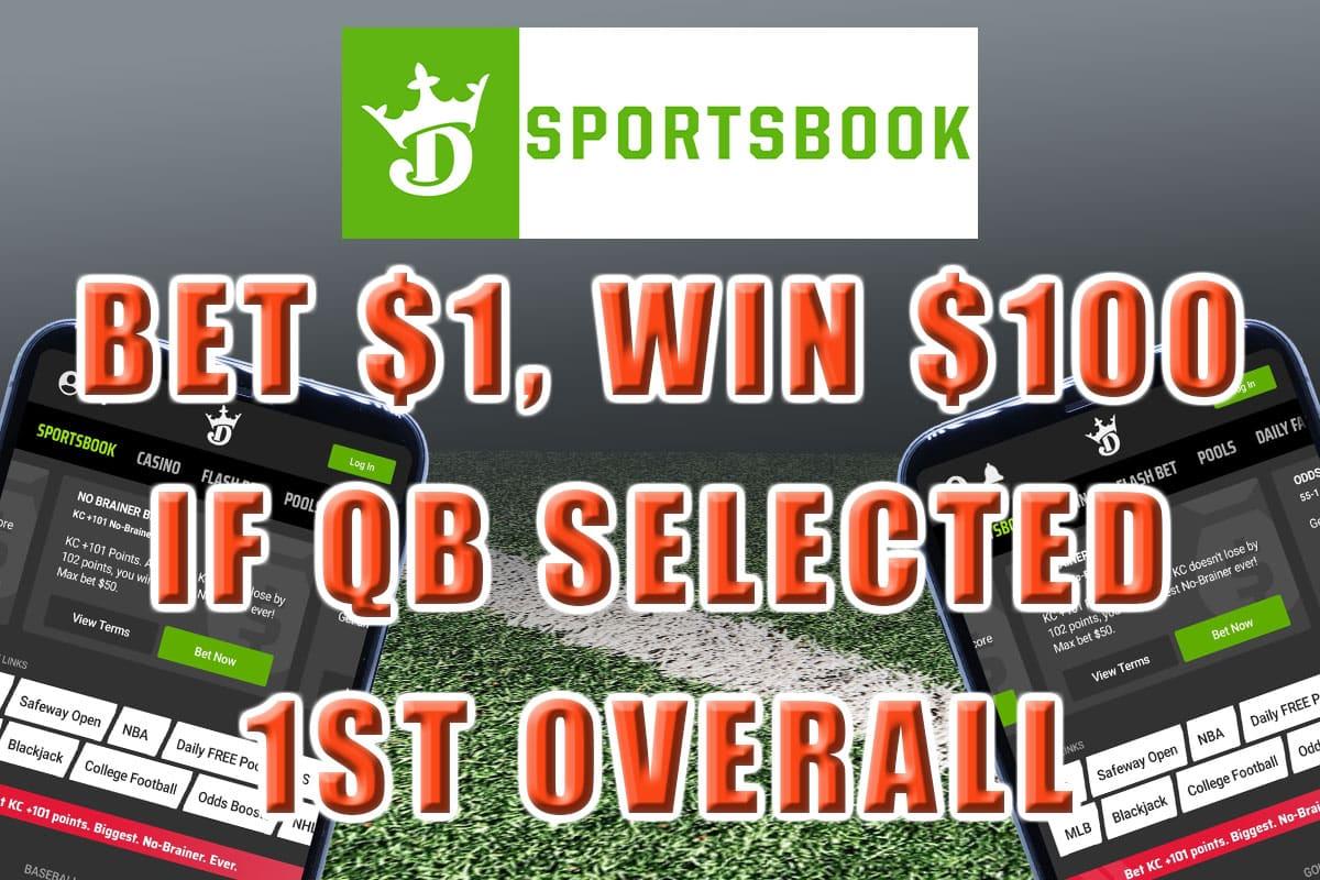 draftkings sportsbook nfl draft promo 100-1