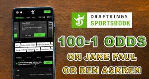 draftkings sportsbook 100-1 odds paul