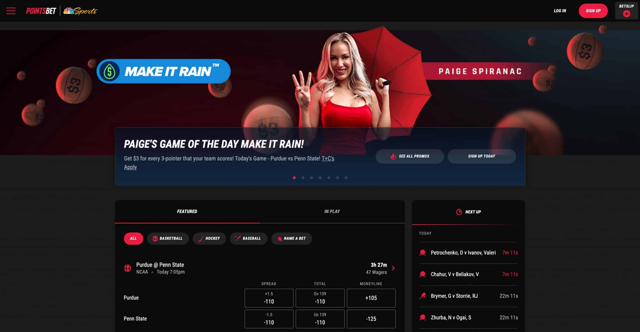 ESNY, PointsBet Website