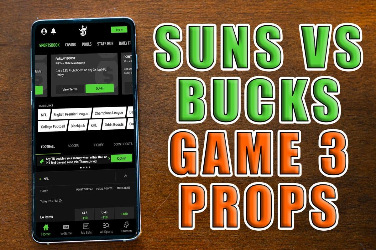 suns bucks game 3 props