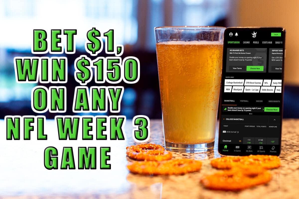draftkings sportsbook promo nfl week 3