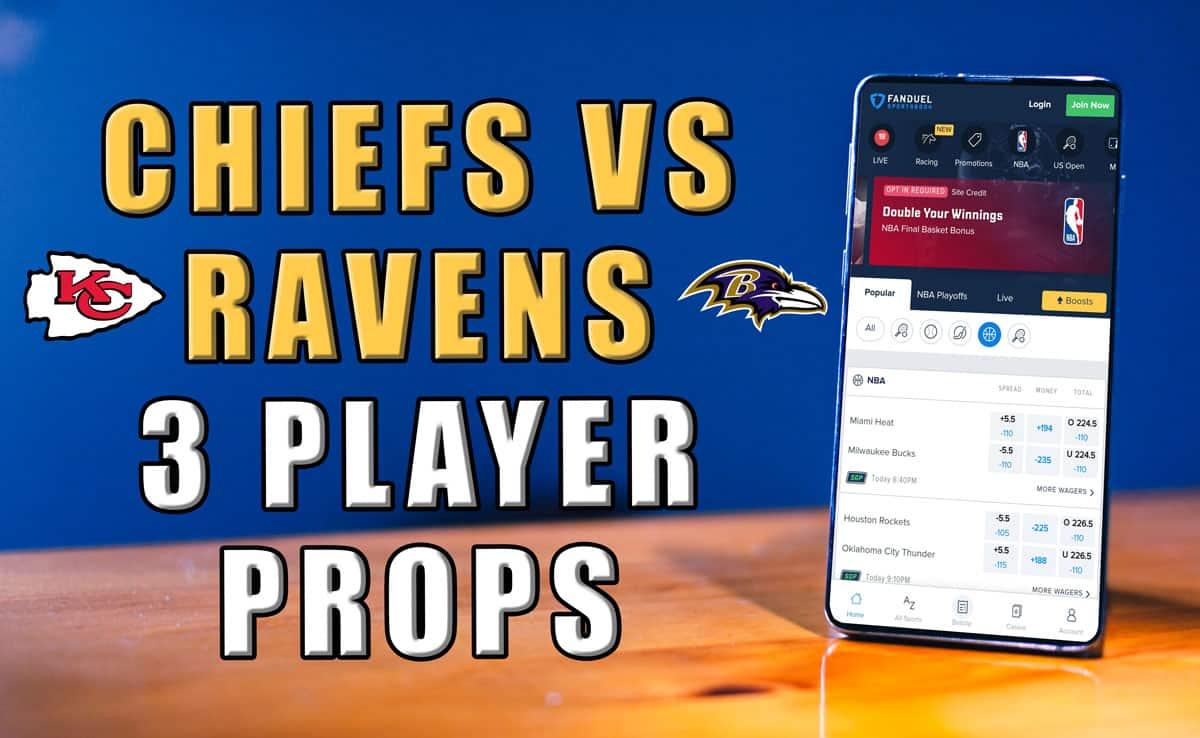 chiefs ravens player prop picks