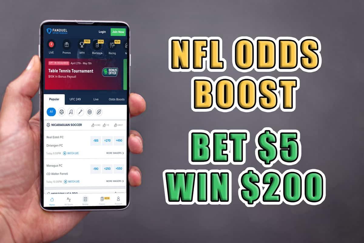 fanduel sportsbook 40-1 odds bet 5 win 200