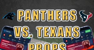 panthers texans player props picks