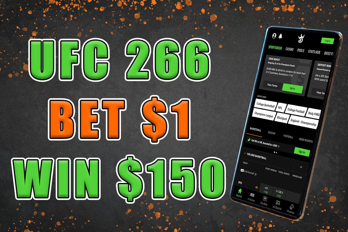 best ufc 266 promo draftkings